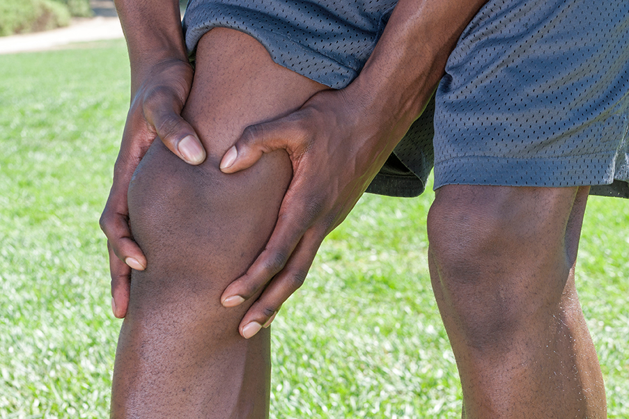 Sports injury to the knee